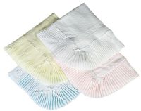 Satin trim christening baby shawls